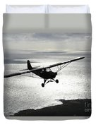 Piper L-4 Cub In Us Army D-day Colors Duvet Cover