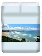 Pismo Beach Pier Panorama Duvet Cover