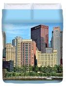 Pittsburgh Building Cluster Duvet Cover