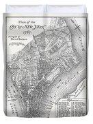 Plan Of The City Of New York Duvet Cover