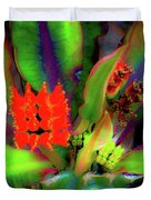 Plants And Flowers In Hawaii Duvet Cover
