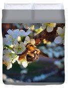 Plum Full Of Bees Duvet Cover