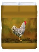 Plymouth Rock Rooster Duvet Cover