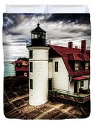 Point Betsie On Lake Michigan Duvet Cover