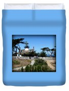 Point Pinos Lighthouse In Pacific Grove, California Duvet Cover