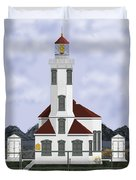 Point Wilson Lighthouse Duvet Cover