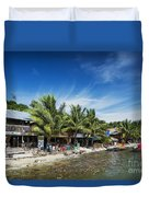Polluted Dirty Beach With Garbage Rubbish In Koh Rong Island Cam Duvet Cover