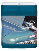 1933 Pontiac Eight Hood Ornament Duvet Cover
