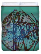 Pop Art - New Tropical Fish Poster Duvet Cover