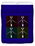 Pop Art Style Corkscrews. Duvet Cover