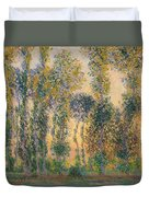 Poplars At Giverny, Sunrise Duvet Cover