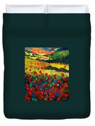 Poppies In Tuscany Duvet Cover