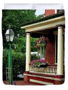 Porch With Hanging Plants Duvet Cover