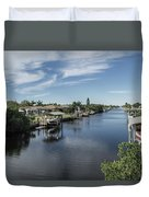 Port Charlotte Ackerman Waterway From Ohara Duvet Cover