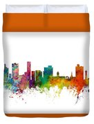 Port Elizabeth South Africa Skyline Duvet Cover