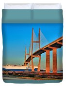 Port Traffic Duvet Cover