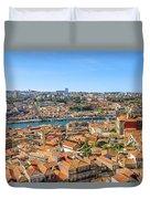 Porto Skyline Portugal Duvet Cover