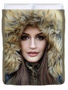 Portrait Of A Beautiful Woman Duvet Cover