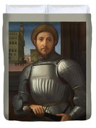 Portrait Of A Man In Armour Duvet Cover