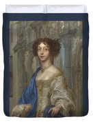 Portrait Of A Woman As Saint Agnes Duvet Cover
