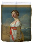 Portrait Of A Woman Duvet Cover