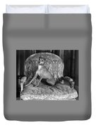 Portrait Of An Italian Greyhound In Black And White Duvet Cover