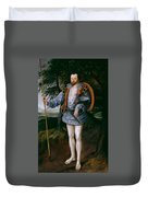 Portrait Of Captain Thomas Lee Duvet Cover