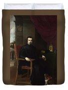Portrait Of Don Justino De Neve Duvet Cover