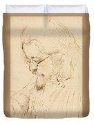 Portrait Of Samuel Palmer Head And Shoulders Duvet Cover