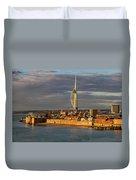 Portsmouth Harbour England  Duvet Cover
