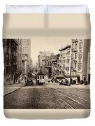 Powell Street Hill - San Francisco 1945 Duvet Cover