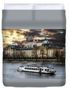 Prague By The Water Duvet Cover