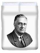 President Franklin Roosevelt Graphic  Duvet Cover