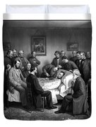 President Lincoln's Deathbed Duvet Cover