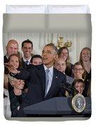 President Obama Honors Us Womens Soccer Team At White House #2 Duvet Cover