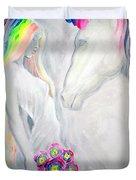 Princess And Unicorn Duvet Cover