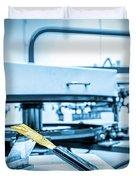 Print Screening Metal Machine. Duvet Cover