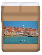 Prvic Sepurine Waterfront And Stone Architecture View Duvet Cover