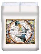 Ptolemaic Universe, 1660 Duvet Cover
