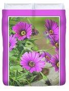 Purple Aster Flowers Duvet Cover