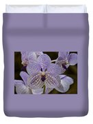 Purple Orchids Duvet Cover