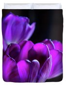 Purple Tulips 1 Duvet Cover