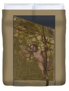 Putto Gathering Grapes Duvet Cover
