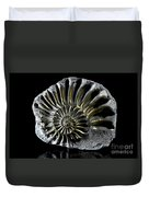 Pyritized Ammonite Duvet Cover