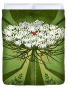 Queen Anne's Lace Print Duvet Cover