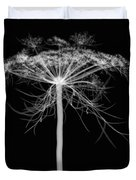 Queen Annes Lace, X-ray Duvet Cover