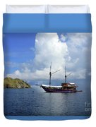 Silent Diving Bay On The Coast Of Sulawesi Duvet Cover