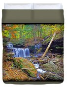 R B Ricketts Falls In Autumn Duvet Cover