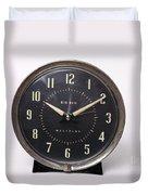 Radium Dial On Clock Duvet Cover