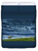 Rain Storm Ewe And Lamb Duvet Cover